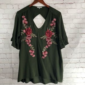 Anthropologie Tops - Anthropologie Embroidered Floral Blouse